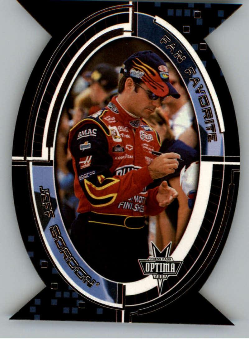 2002 Press Pass Optima Fan Favorite #FF7 Jeff Gordon NM-MT