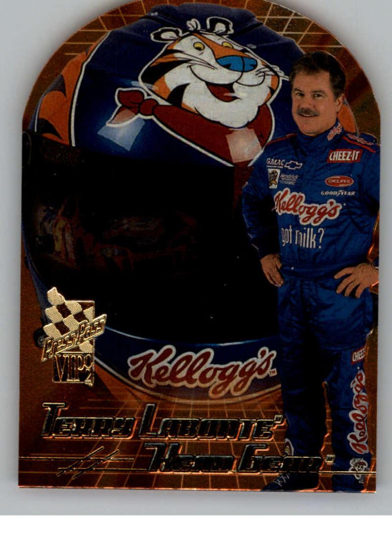 2002 Press Pass VIP Head Gear Die Cuts #HG8 Terry Labonte NM-MT
