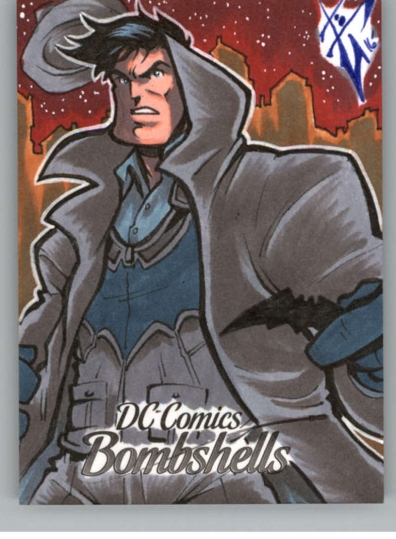 2017 Cryptozoic DC Comics Bombshells Sketch Artists 1/1 #NNO Benjamin Glendenning (Batman)
