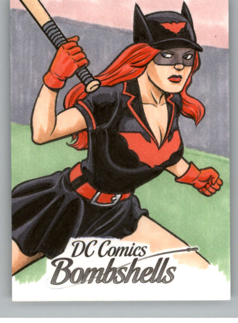 2017 Cryptozoic DC Comics Bombshells Sketch Artists 1/1 #NNO Brendon and Brian Fraim (Batwoman)
