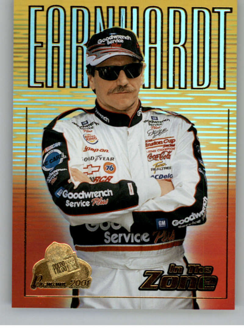 2001 Press Pass Premium In The Zone #IZ3 Dale Earnhardt NM-MT