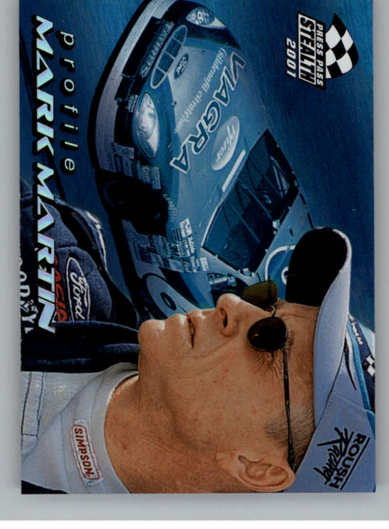 2001 Press Pass Stealth Profile #PR1 Mark Martin NM-MT