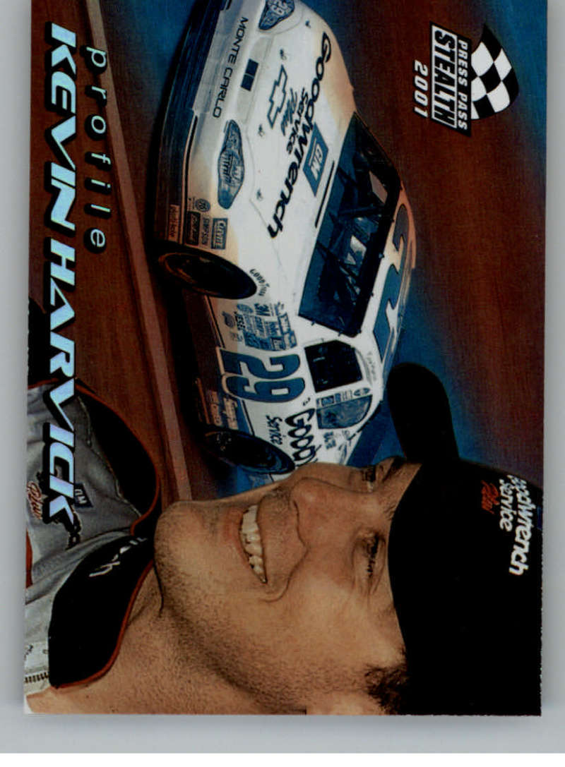 2001 Press Pass Stealth Profile #PR2 Kevin Harvick NM-MT