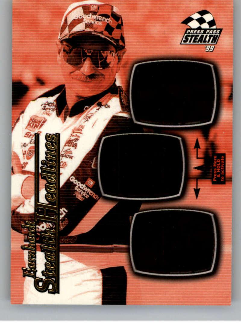 1999 Press Pass Stealth Headlines #SH2 Dale Earnhardt NM-MT