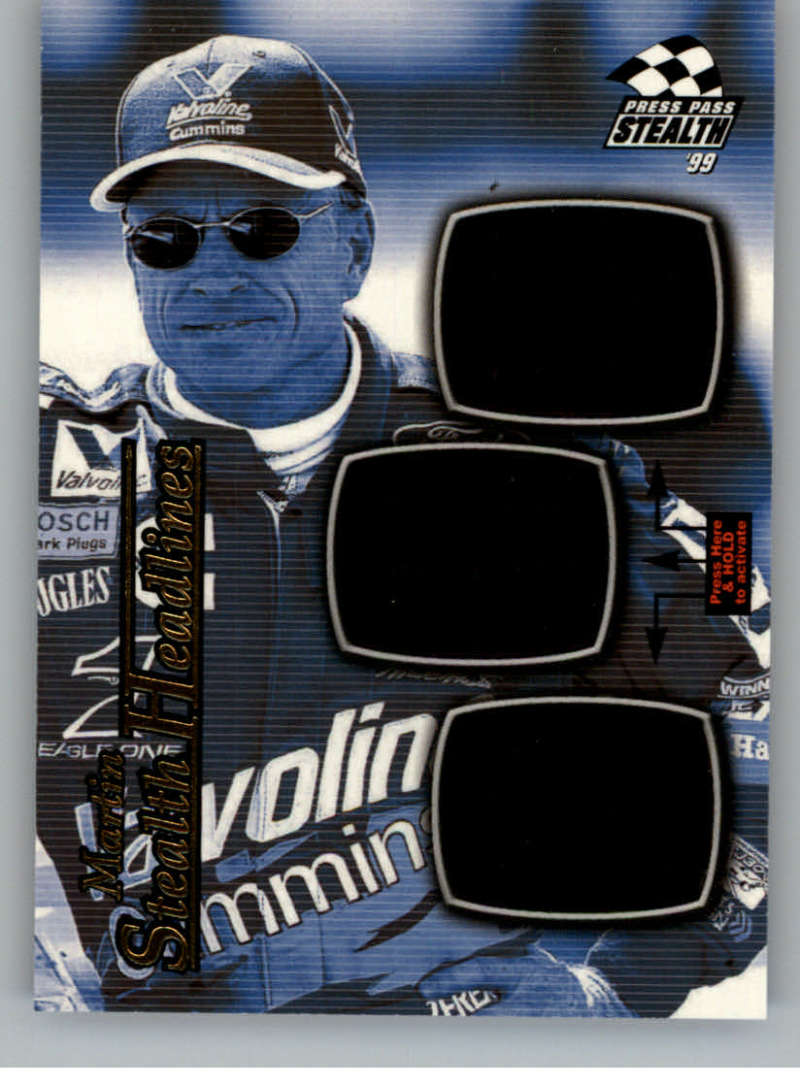 1999 Press Pass Stealth Headlines #SH4 Mark Martin NM-MT