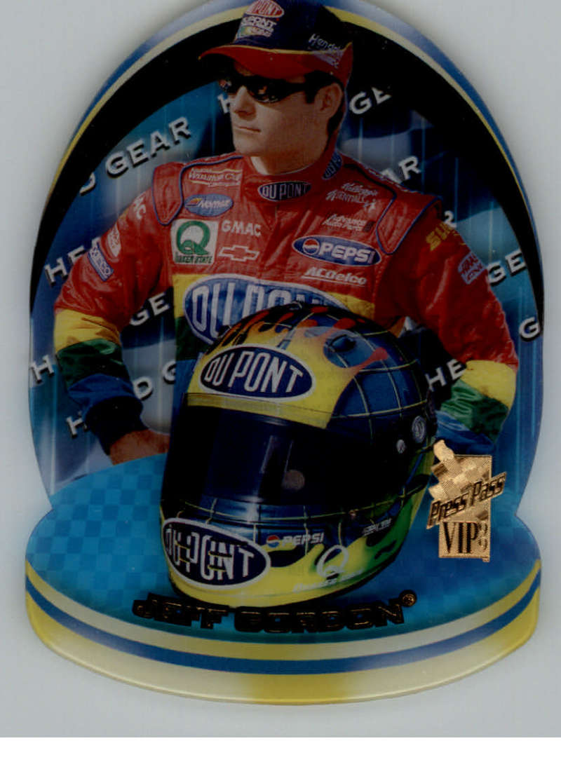 1999 Press Pass VIP Head Gear Plastic #HG1 Jeff Gordon NM-MT