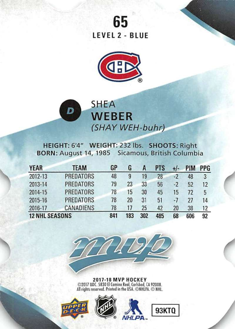 2017-18-Upper-Deck-MVP-Colors-and-Contours-Hockey-Cards-Pick-From-List thumbnail 61