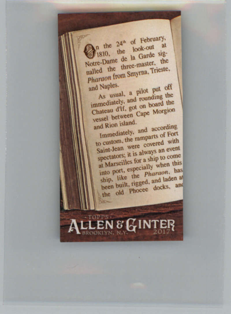2017 Topps Allen and Ginter Required Reading Mini #RR-14 The Count of Monte Cristo