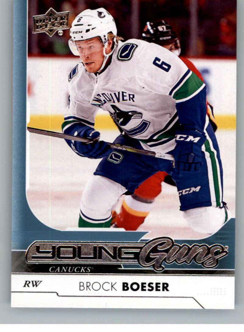 2017-18 Upper Deck #247 Brock Boeser RC Rookie Canucks