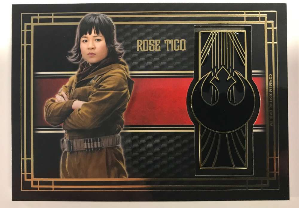 2017 Topps Star Wars The Last Jedi Medallion Relics #NNO Rose/Resistance