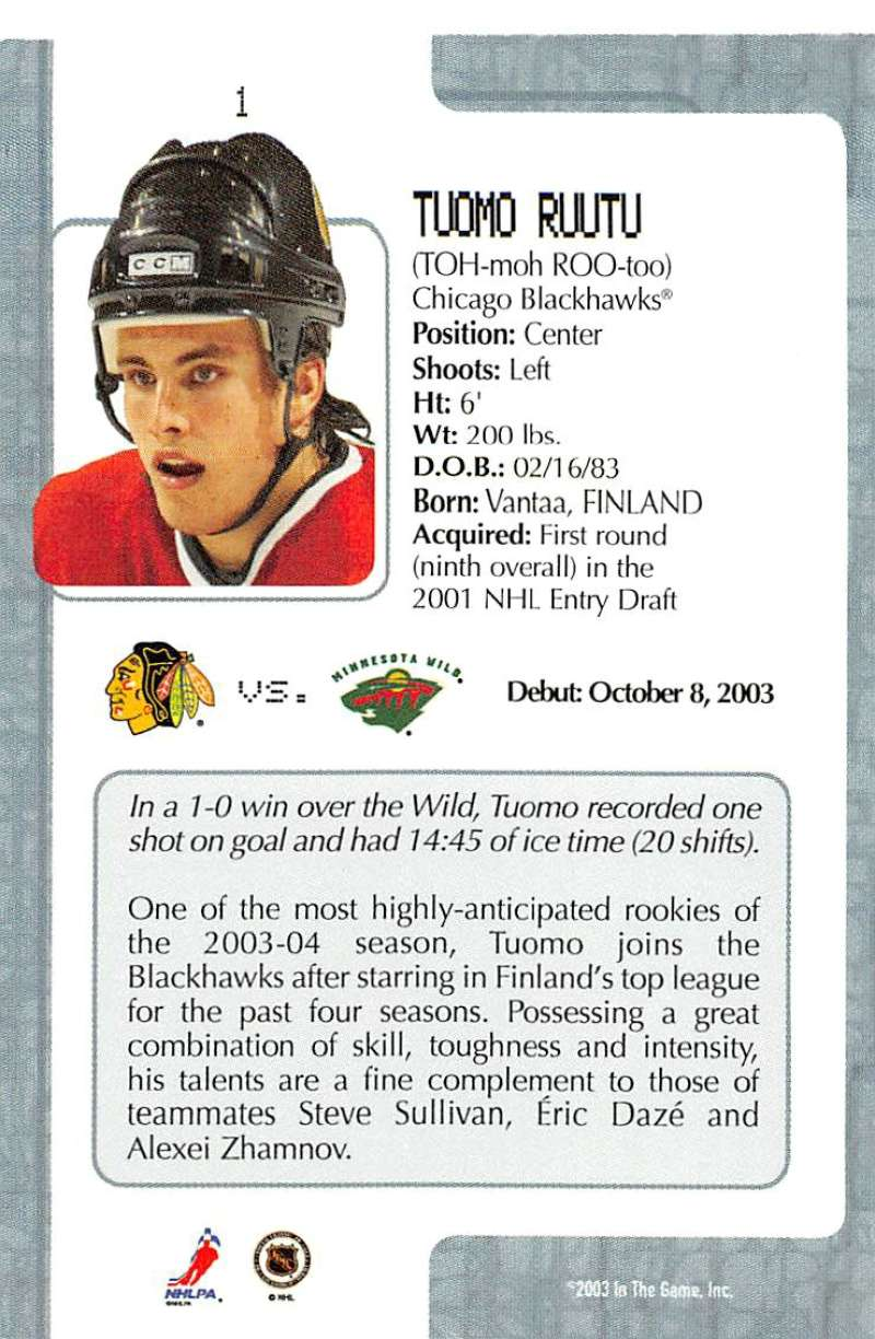 2003-04-In-The-Game-VIP-Rookie-Debut-Hockey-Cards-Pick-From-List thumbnail 3