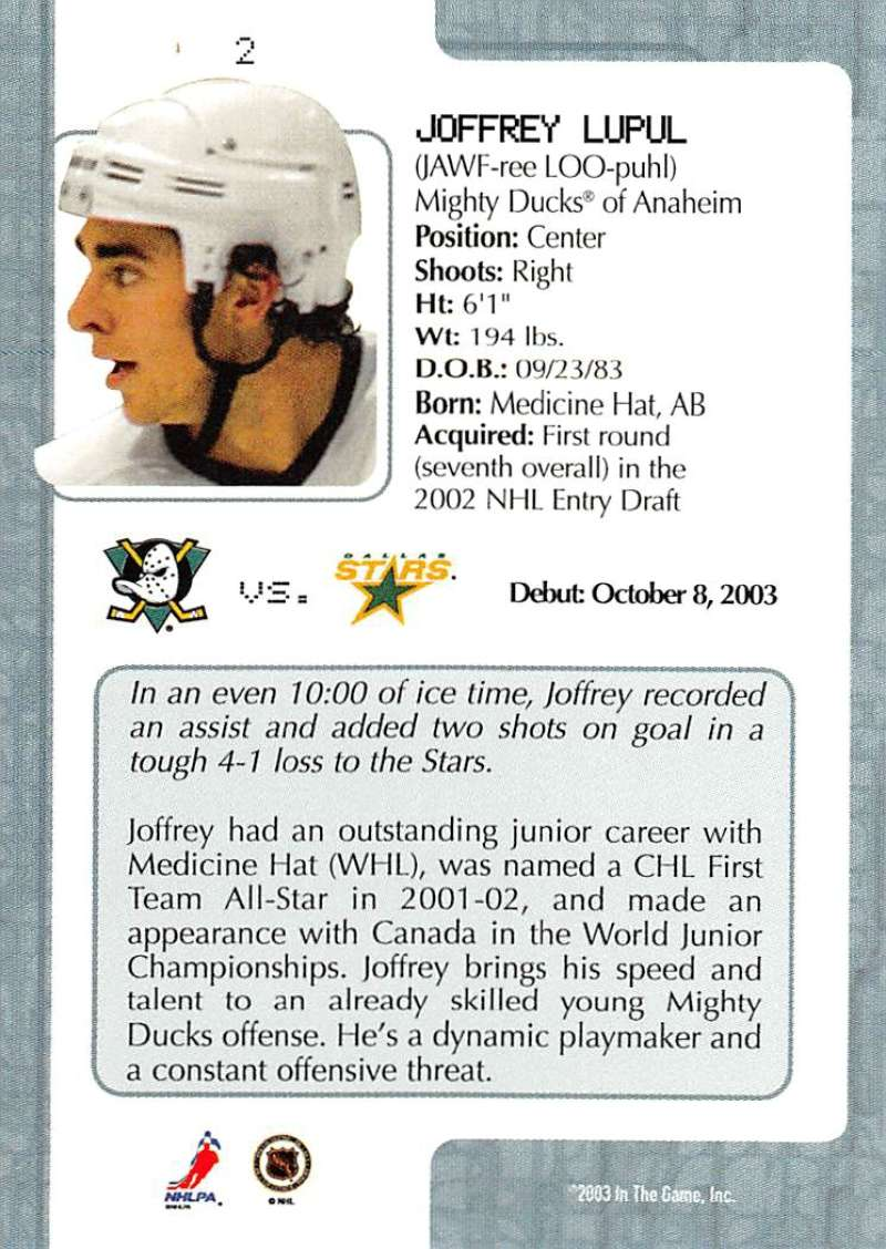 2003-04-In-The-Game-VIP-Rookie-Debut-Hockey-Cards-Pick-From-List thumbnail 5