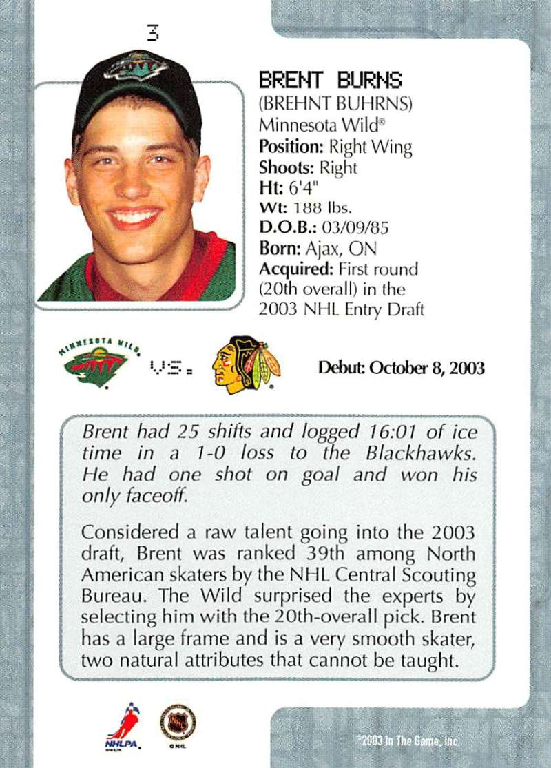2003-04-In-The-Game-VIP-Rookie-Debut-Hockey-Cards-Pick-From-List thumbnail 7