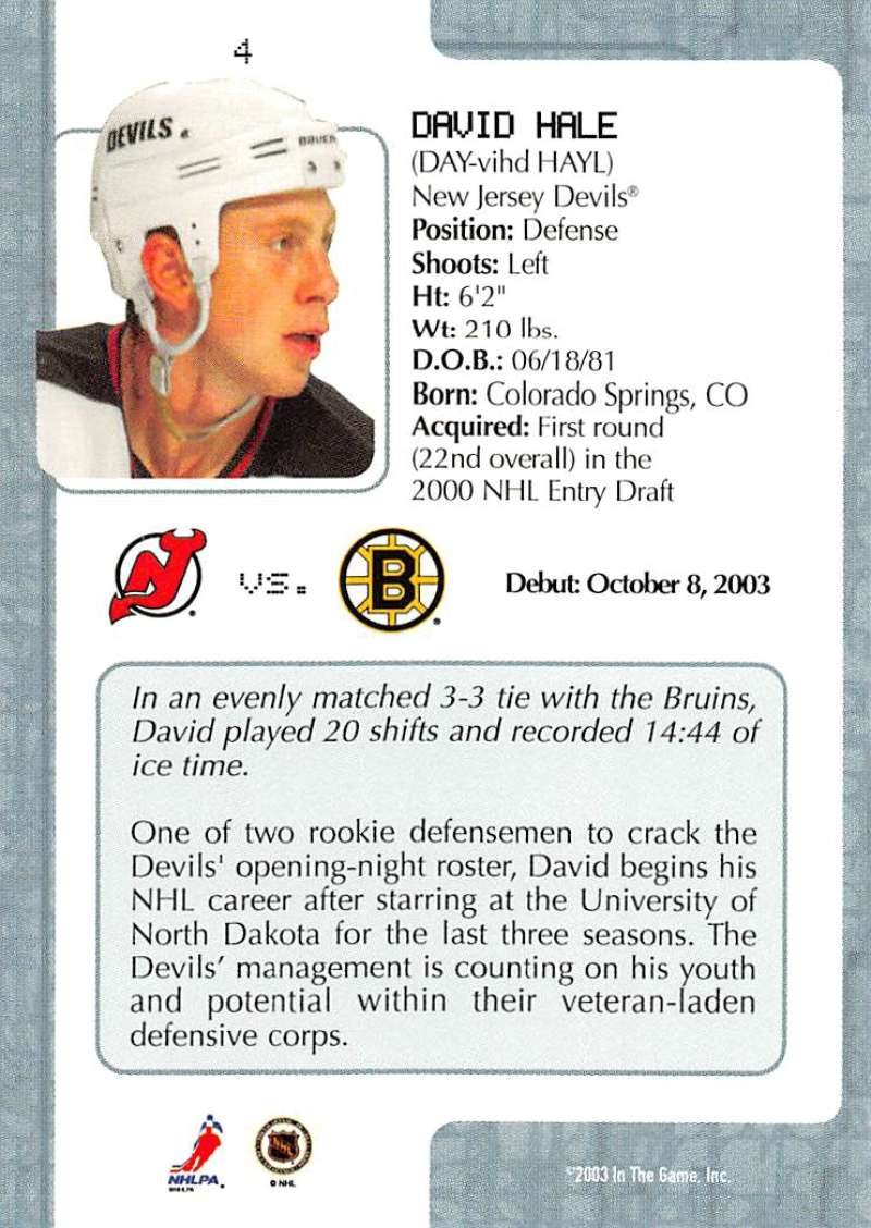 2003-04-In-The-Game-VIP-Rookie-Debut-Hockey-Cards-Pick-From-List thumbnail 9