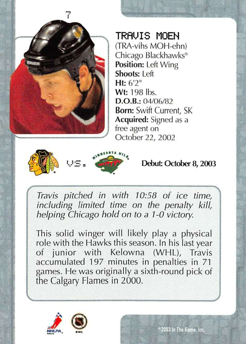 2003-04-In-The-Game-VIP-Rookie-Debut-Hockey-Cards-Pick-From-List thumbnail 13