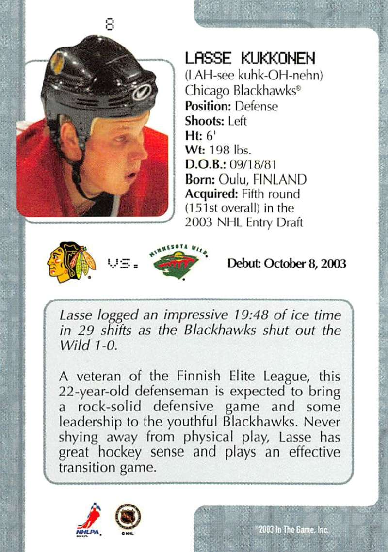 2003-04-In-The-Game-VIP-Rookie-Debut-Hockey-Cards-Pick-From-List thumbnail 15