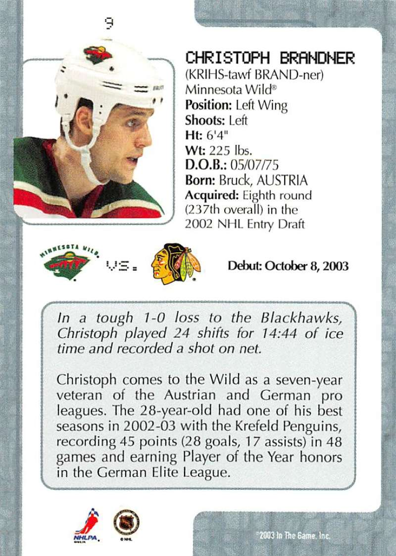 2003-04-In-The-Game-VIP-Rookie-Debut-Hockey-Cards-Pick-From-List thumbnail 17