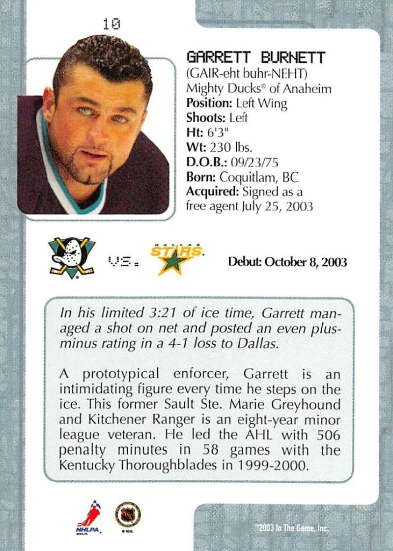 2003-04-In-The-Game-VIP-Rookie-Debut-Hockey-Cards-Pick-From-List thumbnail 19