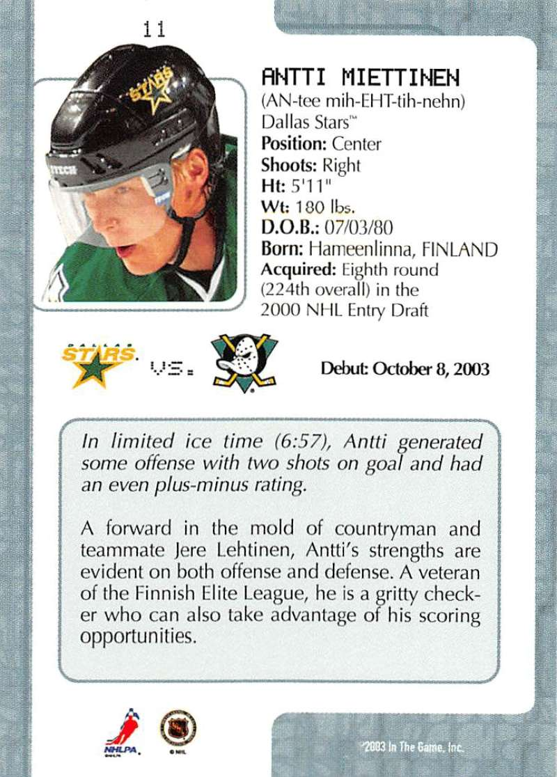 2003-04-In-The-Game-VIP-Rookie-Debut-Hockey-Cards-Pick-From-List thumbnail 21