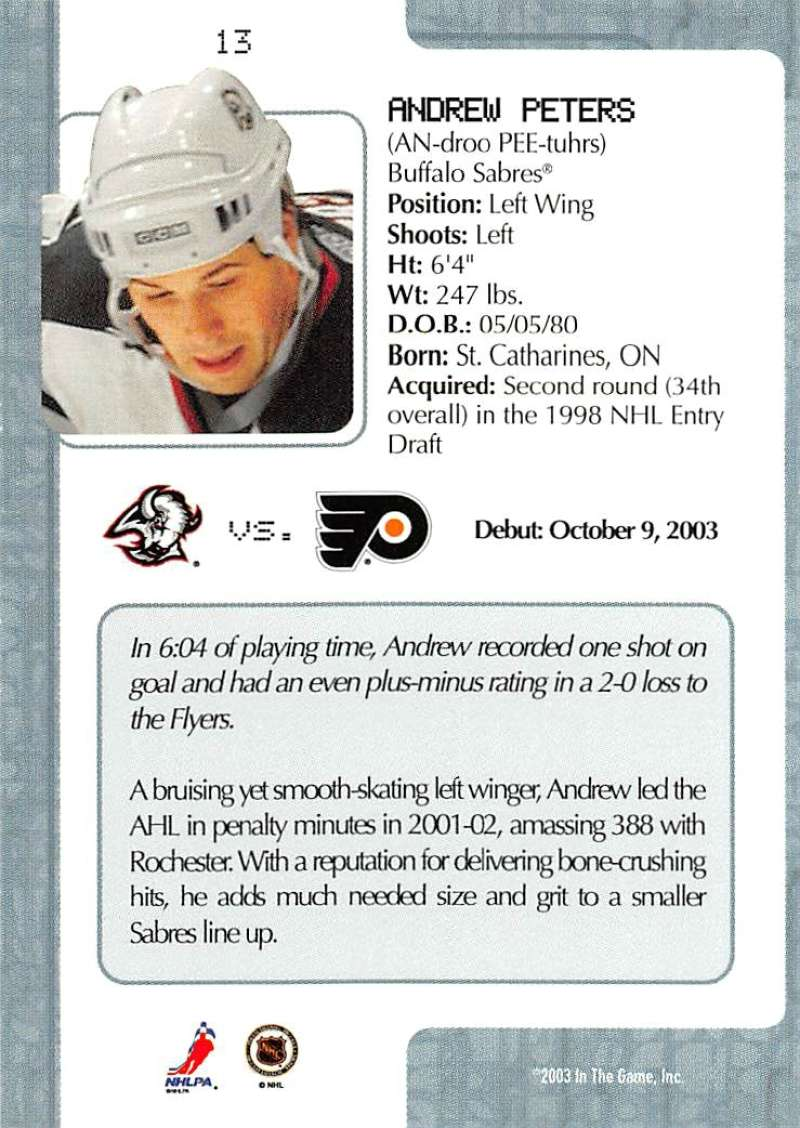 2003-04-In-The-Game-VIP-Rookie-Debut-Hockey-Cards-Pick-From-List thumbnail 25