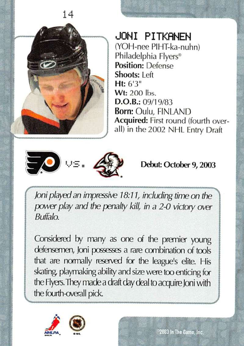 2003-04-In-The-Game-VIP-Rookie-Debut-Hockey-Cards-Pick-From-List thumbnail 27