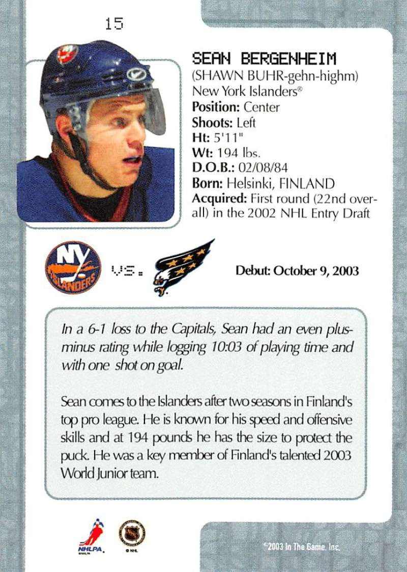 2003-04-In-The-Game-VIP-Rookie-Debut-Hockey-Cards-Pick-From-List thumbnail 29