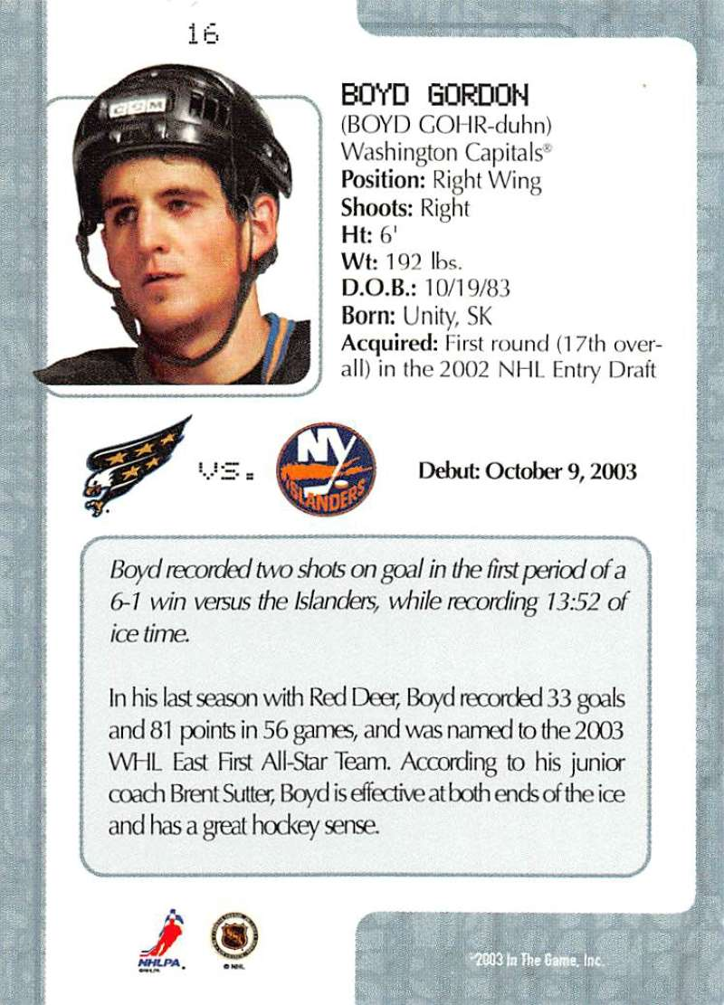 2003-04-In-The-Game-VIP-Rookie-Debut-Hockey-Cards-Pick-From-List thumbnail 31