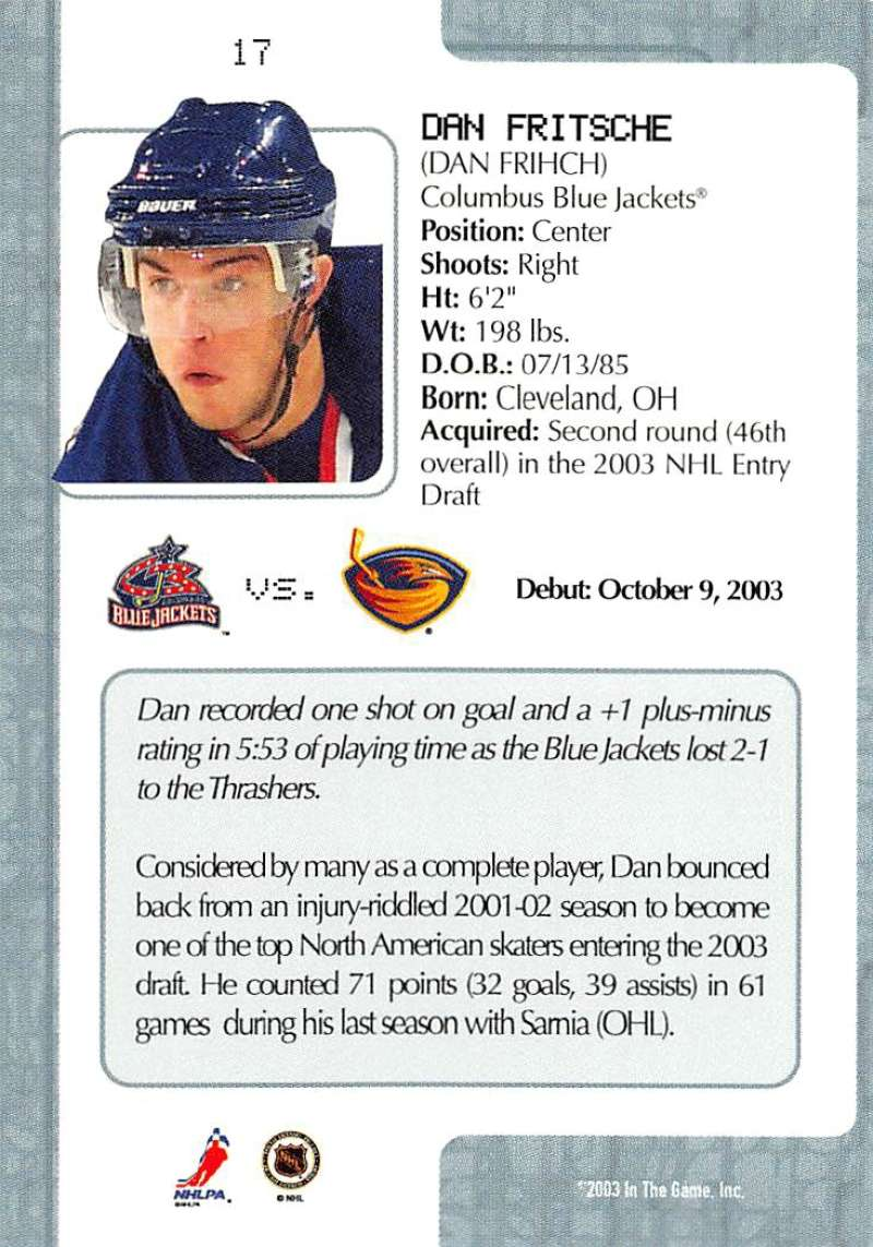 2003-04-In-The-Game-VIP-Rookie-Debut-Hockey-Cards-Pick-From-List thumbnail 33