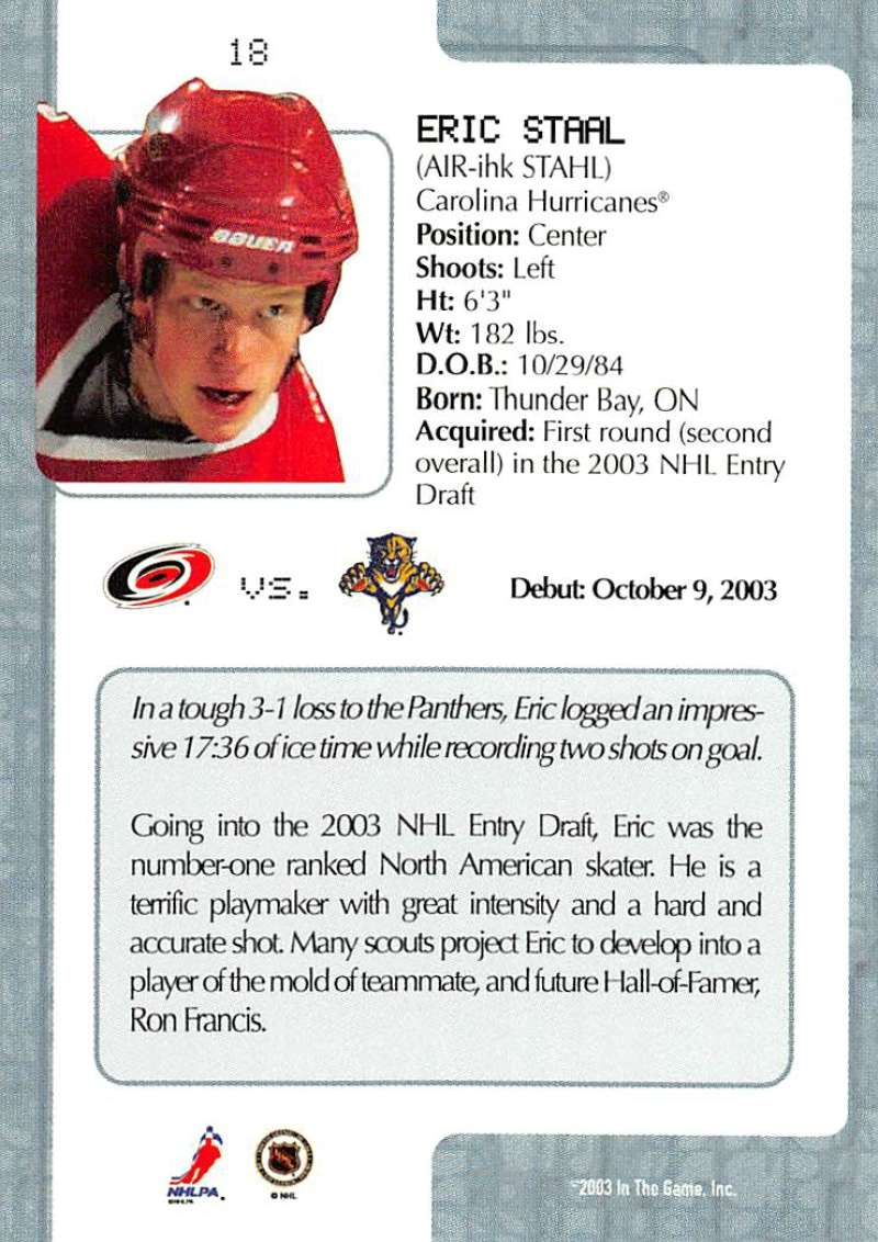 2003-04-In-The-Game-VIP-Rookie-Debut-Hockey-Cards-Pick-From-List thumbnail 35