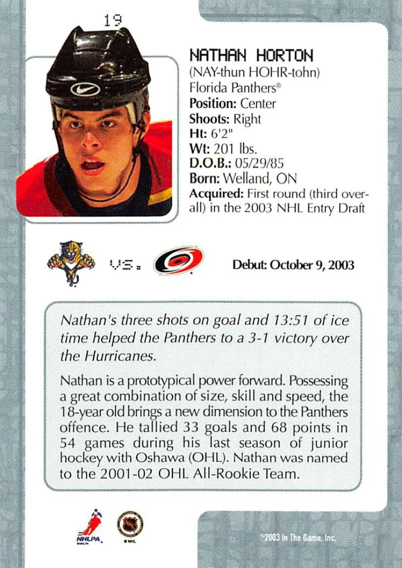 2003-04-In-The-Game-VIP-Rookie-Debut-Hockey-Cards-Pick-From-List thumbnail 37