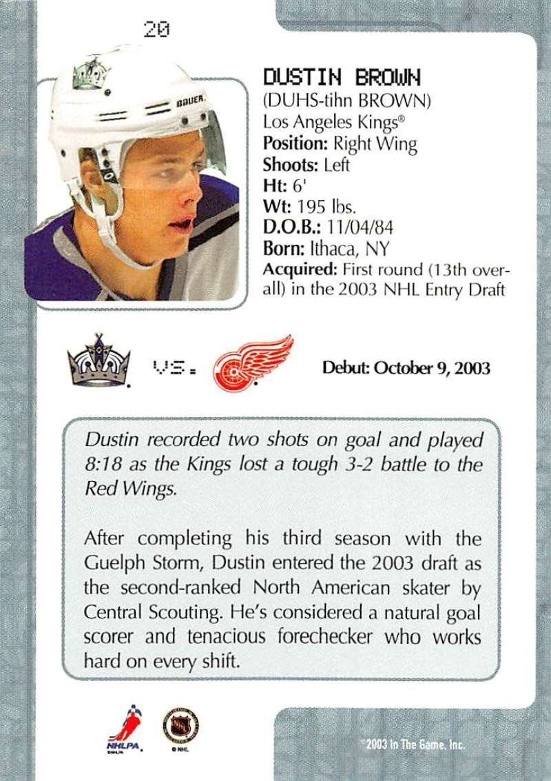 2003-04-In-The-Game-VIP-Rookie-Debut-Hockey-Cards-Pick-From-List thumbnail 39