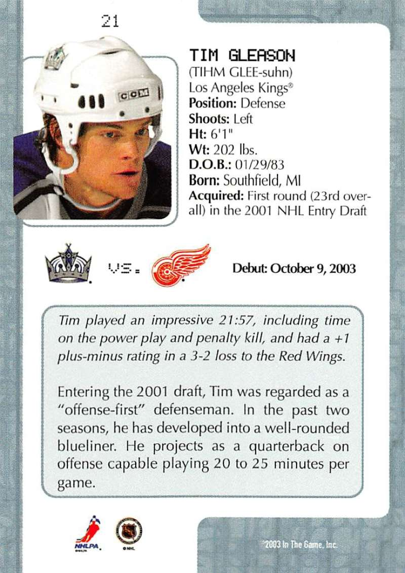 2003-04-In-The-Game-VIP-Rookie-Debut-Hockey-Cards-Pick-From-List thumbnail 41