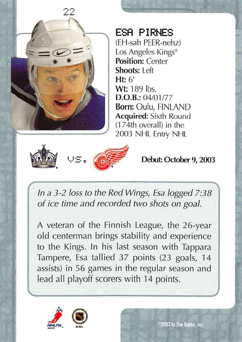 2003-04-In-The-Game-VIP-Rookie-Debut-Hockey-Cards-Pick-From-List thumbnail 43
