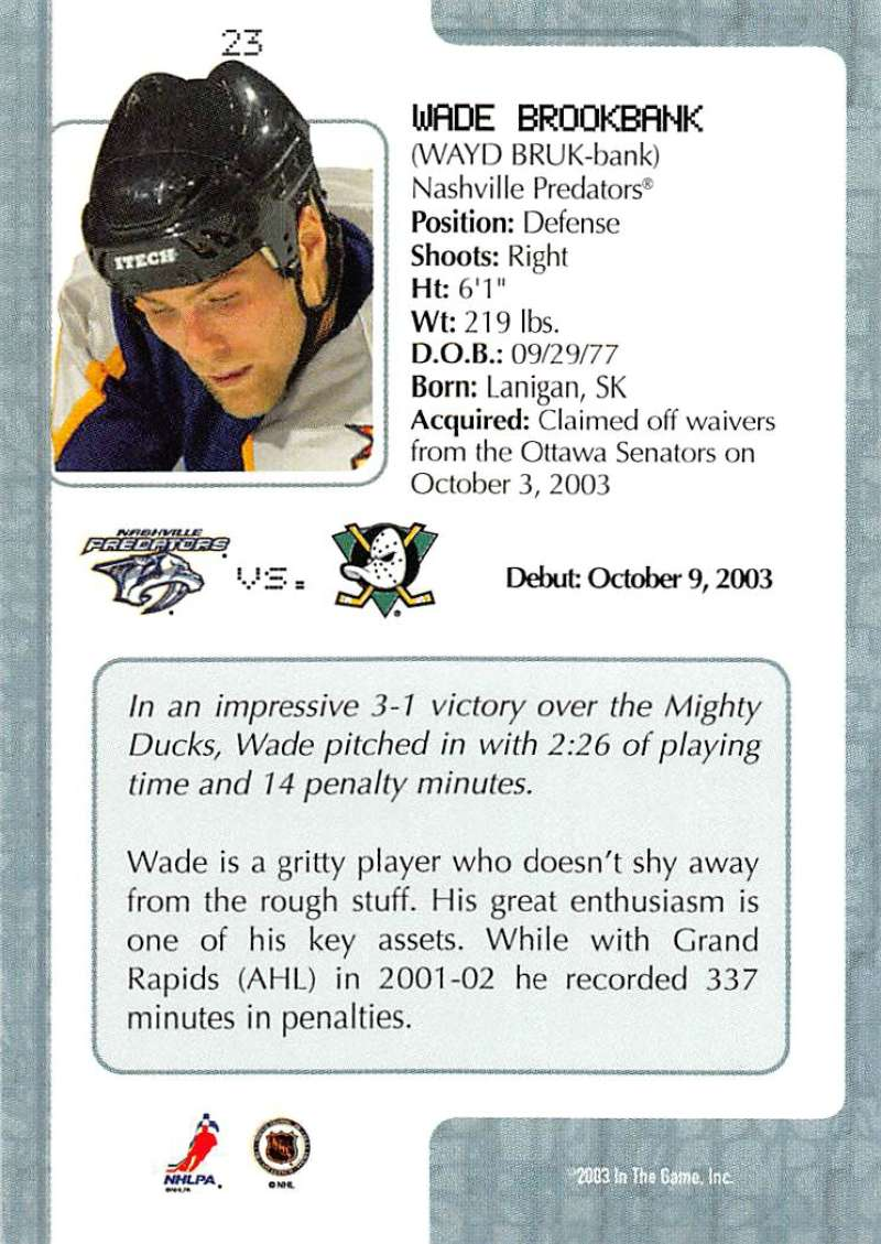 2003-04-In-The-Game-VIP-Rookie-Debut-Hockey-Cards-Pick-From-List thumbnail 45