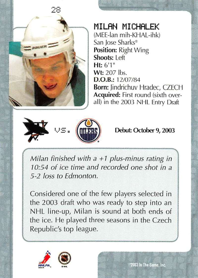 2003-04-In-The-Game-VIP-Rookie-Debut-Hockey-Cards-Pick-From-List thumbnail 55