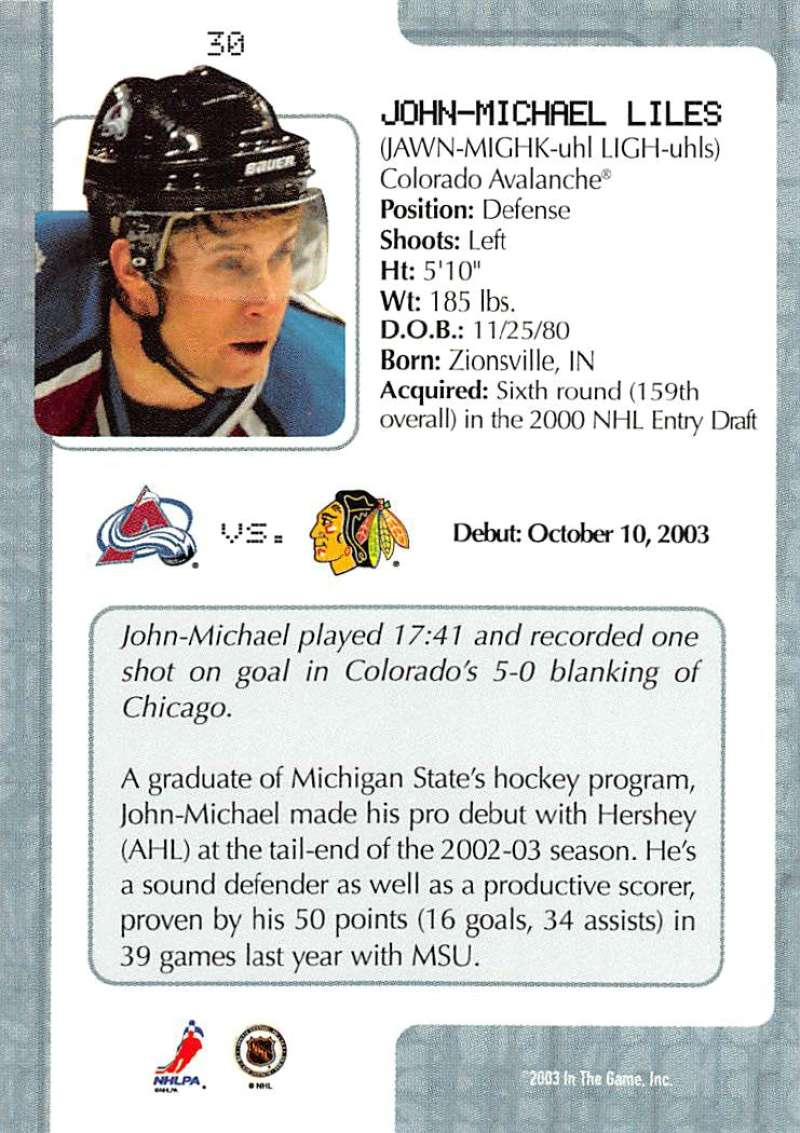 2003-04-In-The-Game-VIP-Rookie-Debut-Hockey-Cards-Pick-From-List thumbnail 59