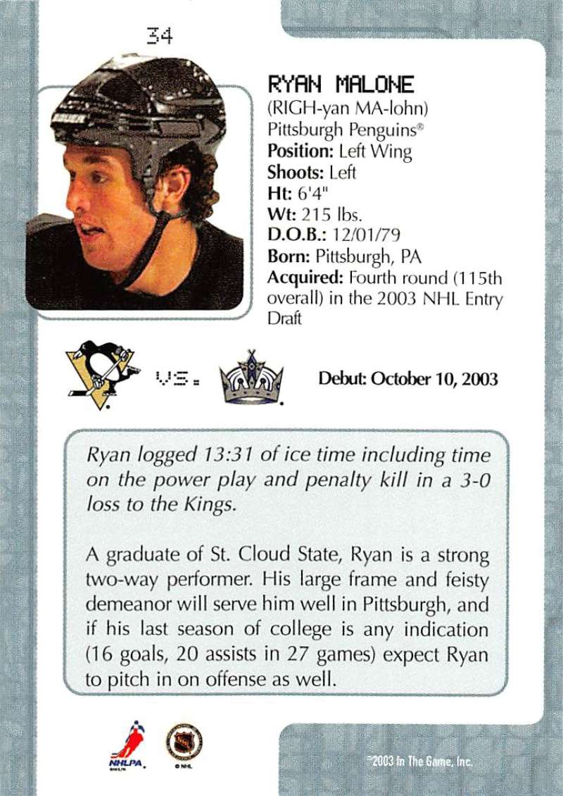 2003-04-In-The-Game-VIP-Rookie-Debut-Hockey-Cards-Pick-From-List thumbnail 63