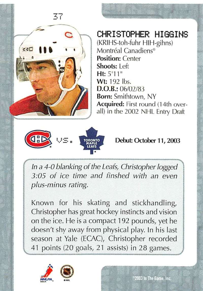 2003-04-In-The-Game-VIP-Rookie-Debut-Hockey-Cards-Pick-From-List thumbnail 69