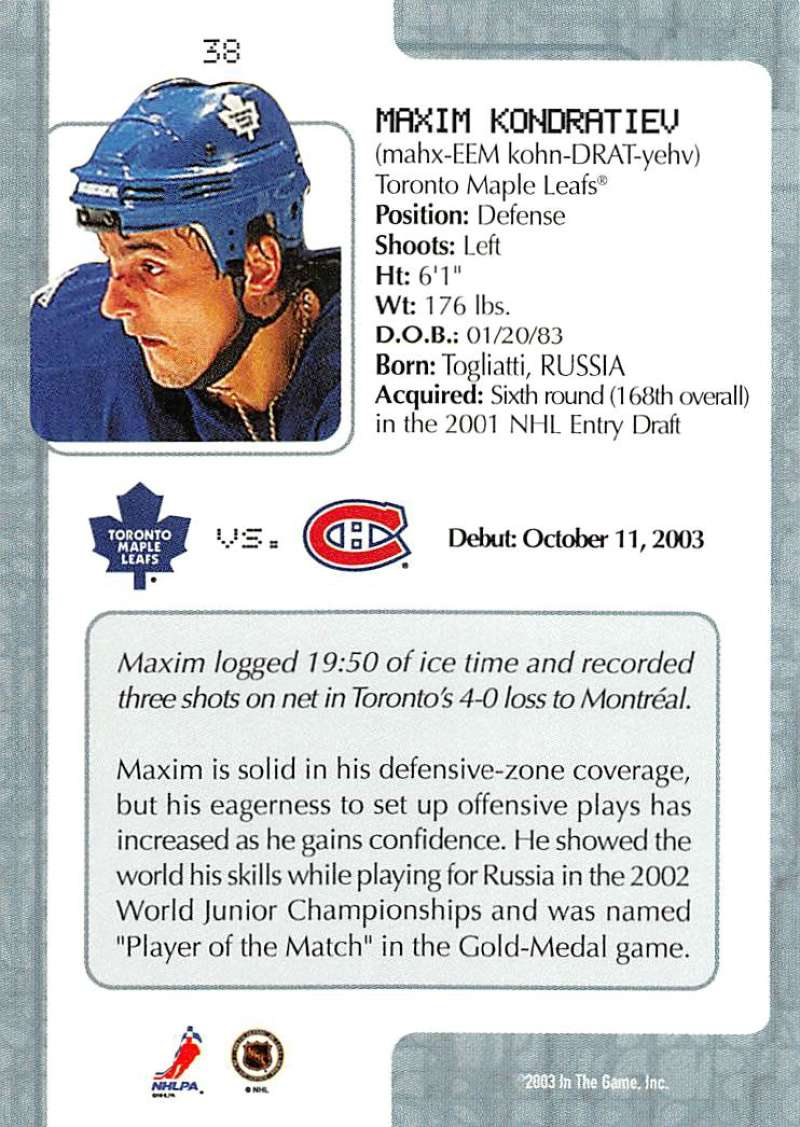 2003-04-In-The-Game-VIP-Rookie-Debut-Hockey-Cards-Pick-From-List thumbnail 71
