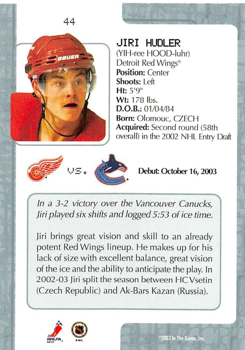 2003-04-In-The-Game-VIP-Rookie-Debut-Hockey-Cards-Pick-From-List thumbnail 83