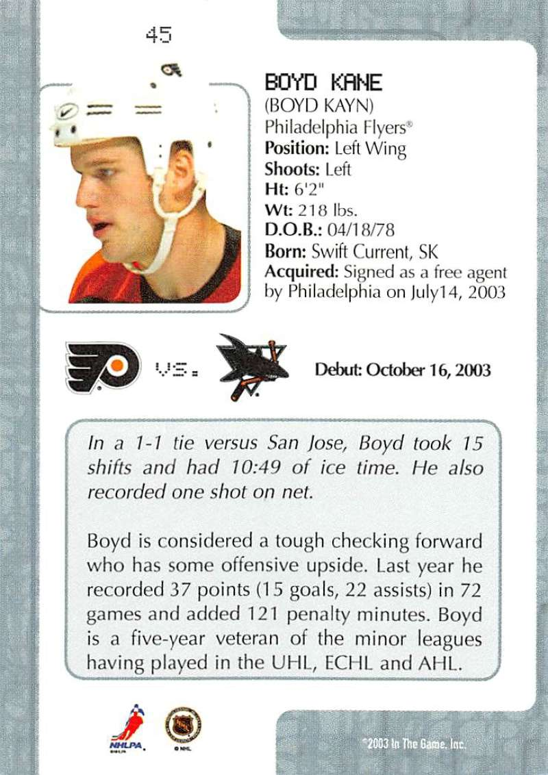 2003-04-In-The-Game-VIP-Rookie-Debut-Hockey-Cards-Pick-From-List thumbnail 85