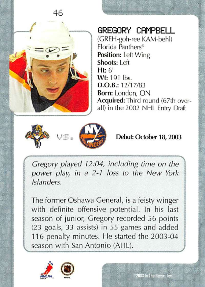 2003-04-In-The-Game-VIP-Rookie-Debut-Hockey-Cards-Pick-From-List thumbnail 87
