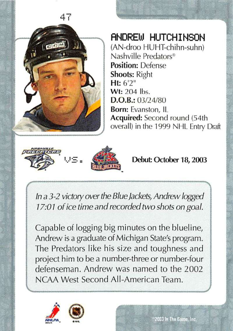2003-04-In-The-Game-VIP-Rookie-Debut-Hockey-Cards-Pick-From-List thumbnail 89