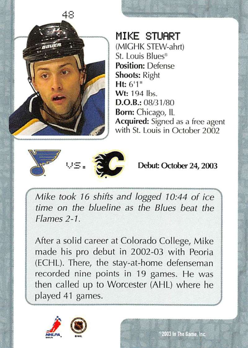 2003-04-In-The-Game-VIP-Rookie-Debut-Hockey-Cards-Pick-From-List thumbnail 91