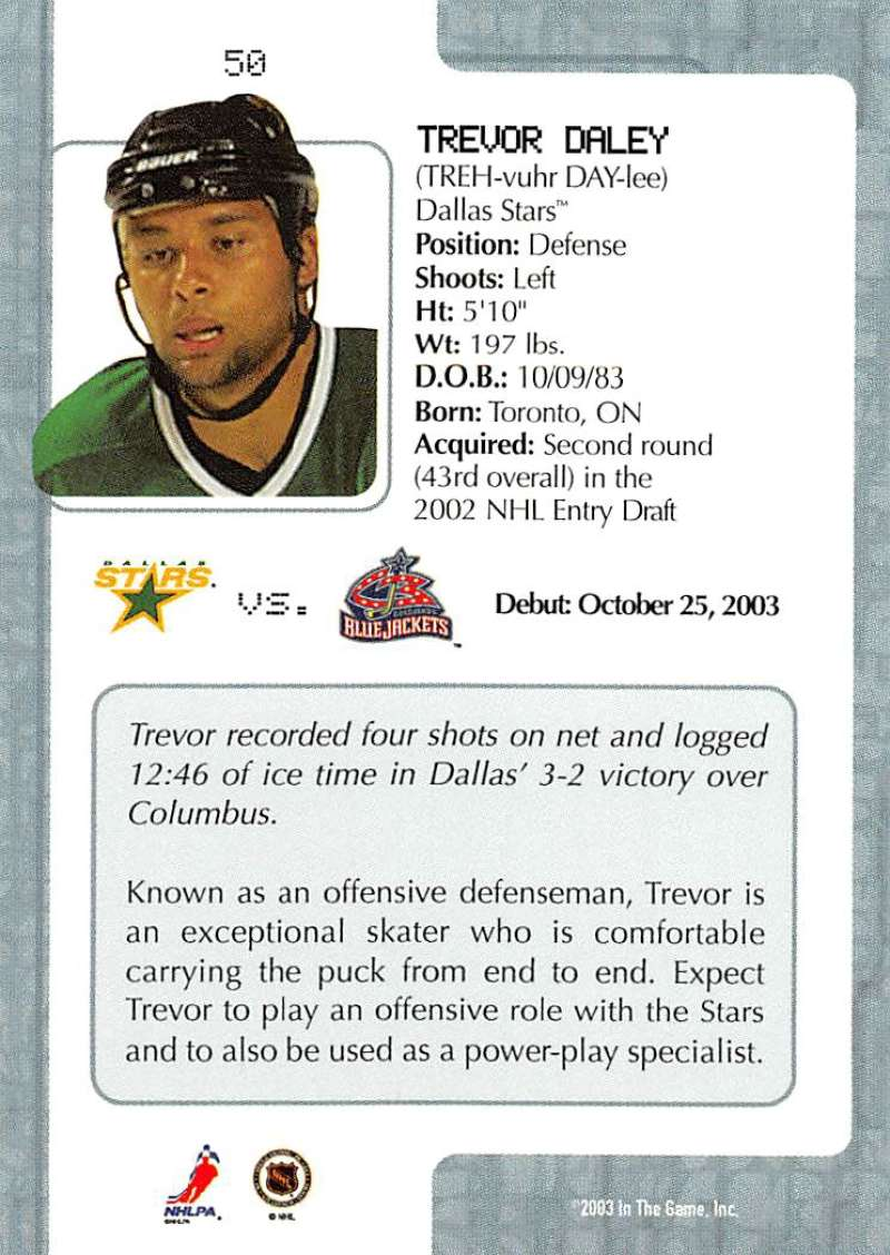 2003-04-In-The-Game-VIP-Rookie-Debut-Hockey-Cards-Pick-From-List thumbnail 95
