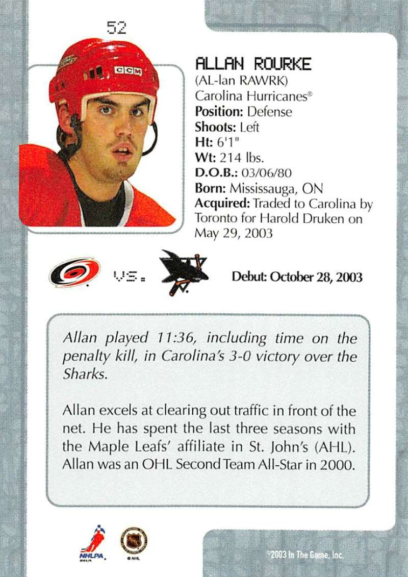 2003-04-In-The-Game-VIP-Rookie-Debut-Hockey-Cards-Pick-From-List thumbnail 97