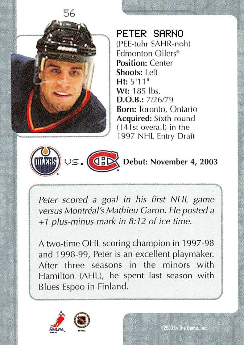 2003-04-In-The-Game-VIP-Rookie-Debut-Hockey-Cards-Pick-From-List thumbnail 101