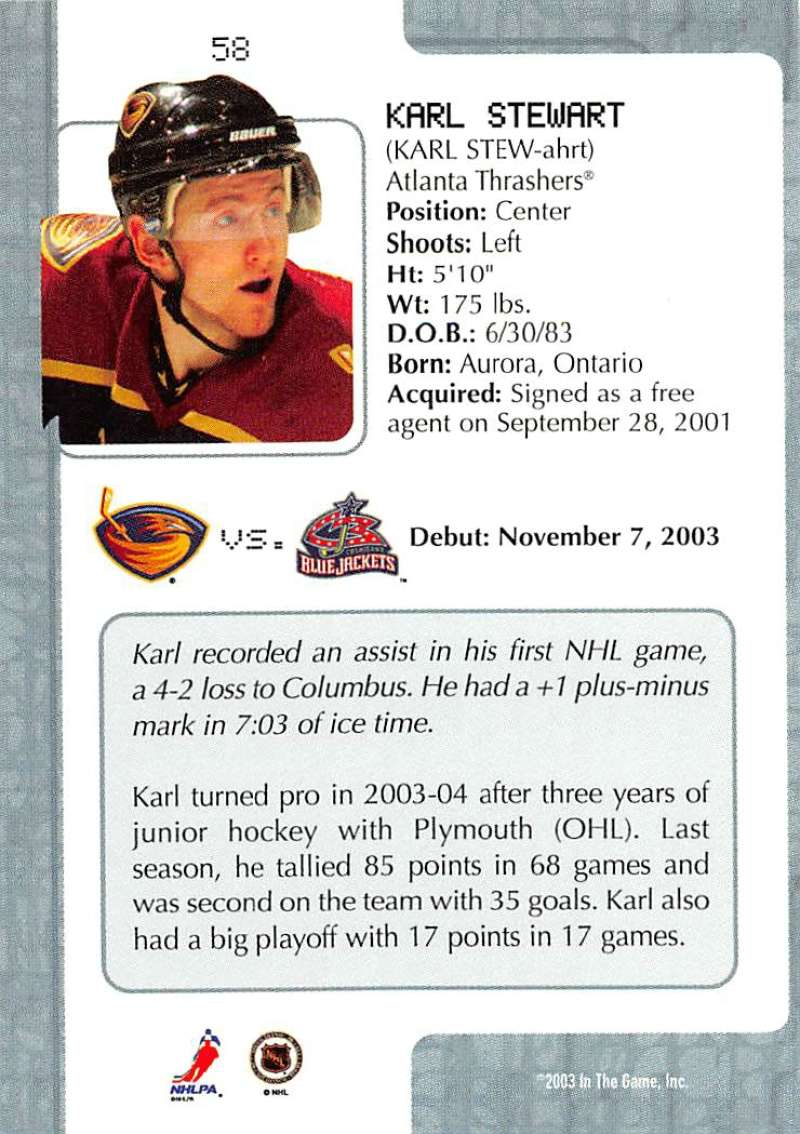 2003-04-In-The-Game-VIP-Rookie-Debut-Hockey-Cards-Pick-From-List thumbnail 103