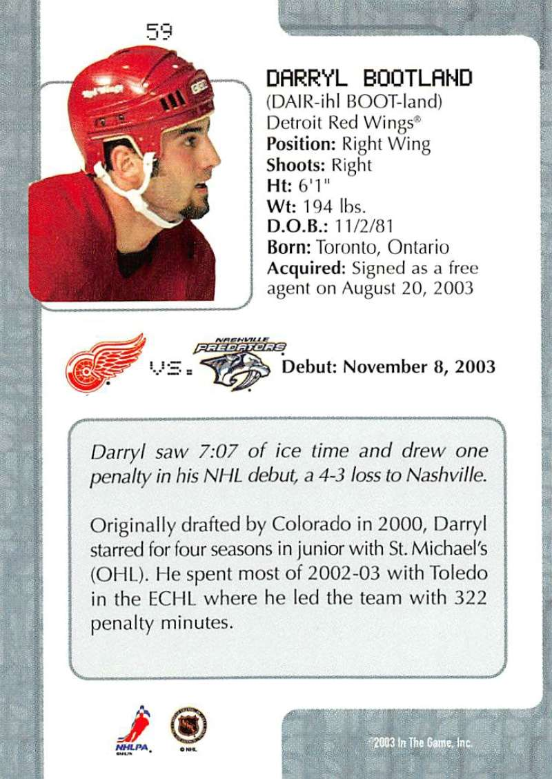 2003-04-In-The-Game-VIP-Rookie-Debut-Hockey-Cards-Pick-From-List thumbnail 105
