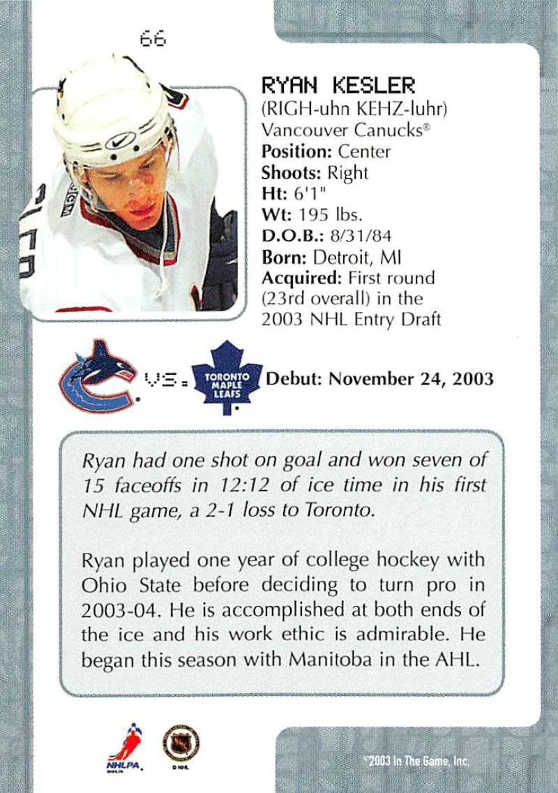 2003-04-In-The-Game-VIP-Rookie-Debut-Hockey-Cards-Pick-From-List thumbnail 117